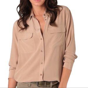 equipment femme slim signature silk blouse large